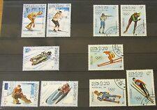 Laos 1984 + 1987 Olympische Spiele Calgary und Sarajevo Lot Gummiert