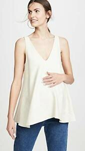 Hatch Maternity Womens The Paige Top - Ivory