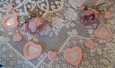 Gisela Graham Pink Polka Dot Heart Picture Frame Garland