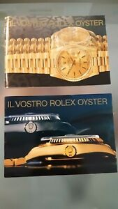 BOOKLETs ROLEX OYSTER VINTAGE (ITALIANO)