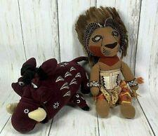 Simba & Pumba plush doll Disney The Lion King Broadway Musical souvenir