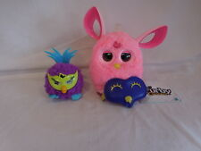 Furby Connect Friend Pink with Blue Mask Light On Top + Small Furby Tested Works