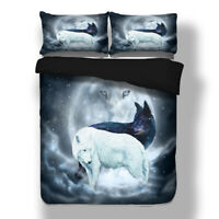 Wolf Animal Duvet Doona Quilt Cover Set Single/Double/Queen/King Size Bed Linen