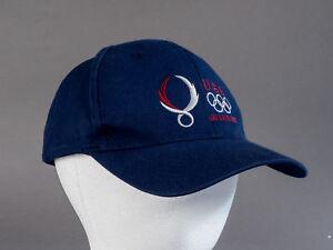 2008 Team USA Beijing Summer Olympics Blue Cap Hat Adjustable Back 100% Cotton