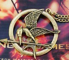 katniss la révolte tirc à l arc rebellion  🏹COLLIER pendentif superbe doré