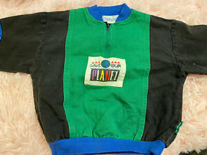 Vintage RARE Oshkosh B'Gosh Pullover Sweater Save Our Planet Environmentalist 3T