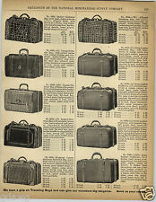 1892 PAPER AD Alligator Leather Gladstone Bag Rubber Ladies' Satchel Duck