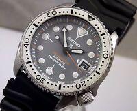 Seiko 'Prospex Zimbe' Mod Silver Cyclops Date Automatic Divers Watch Custom 7002