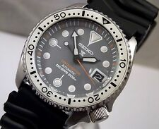 Seiko 'Prospex zimbe' Mod Plata Cíclope fecha automático divers watch Personalizado 7002