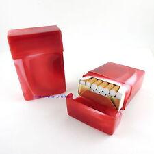 Zigaretten - Box ROT marmoriert passend für 20 Zigaretten Ohne Unterteilung NEU