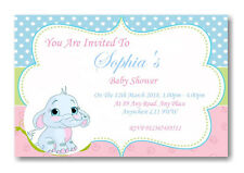 40 Personalised Baby Shower Invitations / Invites With Envelopes Neutral  unisex