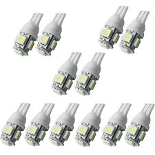 12x T10 W5W LED 194 168 Dome Festoon Replace Interior Door Number Plate Bulb 12V