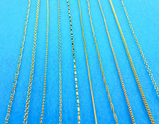 """18K Gold Filled Box Necklaces Chains 30"""" 10X Wholesale Fashion Making Jewelry"""