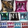 Dual Colors Glitter Sequins Throw Pillow Case Cushion Cover Sofa Car Home Decor