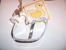 "Ann Clark Rubber Ducky  Cookie Cutter Metal / Tin 5"" Tag Cooky& Frosting Recipe"