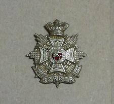 Victorian Border Regiment OR's white metal cap badge.