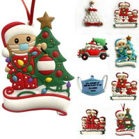 2020 Xmas Tree Hanging Ornaments Family Santa Claus Merry Christmas Decor Gift