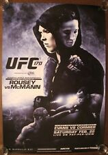 Official UFC 170 A Rousey vs McMann Unreleased Poster 27x39