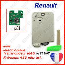 Carte clé avec électronique vierge pour Renault Laguna 2,  Espace 4, VelSatis