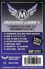 MAYDAY GAMES Standard American USA Board Game Card Sleeves Clear 56 x 87mm 50ct