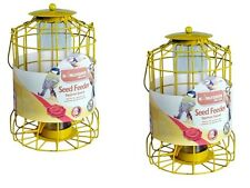 2x BIRD SEED FEEDER SQUIRREL GUARD WIRE CAGE SQUIRREL PROOF PROTECT FEED FEEDING