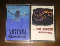2 NIRVANA Cassette tape Nevermind Unplugged in New York Canadian grunge rock