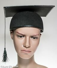 Graduation Cap Black Felt Costume Mortar Board Hat With Tassel One Size