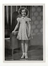 Shirley Temple 1937 Union Dresden Film Star Series 16 5 X 7 Cigarette Photo Card