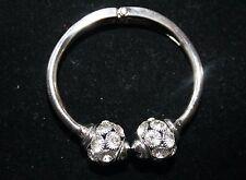 M. Haskell for INC Silver Tone Crystal Paved Hinged Bangle Bracelet  NWOT $29