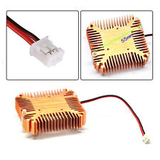 2Pin Copper Plated Cooler Fan Heatsink Cooling Radiator For Computer PC CPU 12V