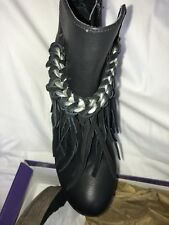 Madden Girl Wedge Leather Ankle Bootie Sz 7