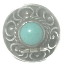 Vintage Turquoise Poison Locket Sterling Silver Ring Size 5.5 Taxco  Mexico