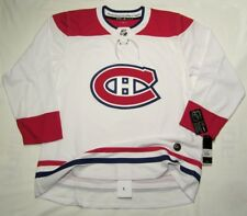 MONTREAL CANADIENS size 52 = size Large - ADIDAS HOCKEY JERSEY Authentic - WHITE