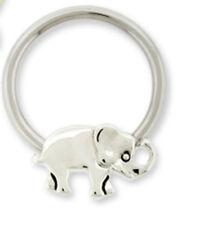Elephant Captive Bead Nipple Ring 14g Stainless Steel Body Jewelry