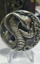 3.24 ozt hand poured 999 Silver Bullion Cobra Coin.round