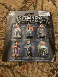Homies Series 1 New Sealed 2000 Droopy Big Loco 8-Ball Mr. Raza Smiley Sapo VTG