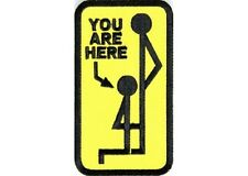 "(B37) YOU ARE HERE 2.25"" x 4"" iron on patch (1272) Biker Vest Cap Hat"