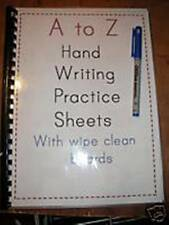 A-Z HAND WRITING TRACE BOOK WIPE CLEAN USE AGAIN&AGAIN A4 size