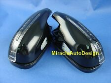 ARROW LED DOOR MIRROR BLACK COVERS SET FOR 1996-2000 MERCEDES BENZ R170 SLK