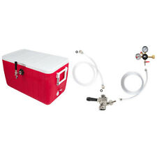 Single Faucet Coil Cooler Complete Kit w/out CO2 Tank - Jockey Box Beer - Picnic