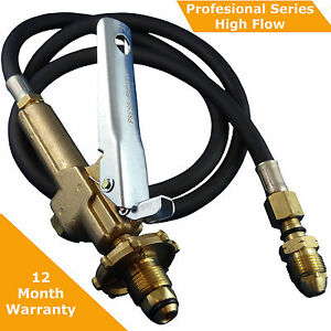 LPG Filler/Decanting Gun & Hose To Suit BBQ/POL/CGA510 Valves