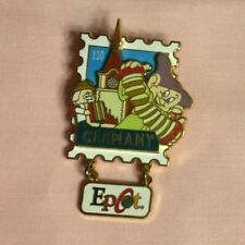 Dopey Germany Epcot Stamp Pin Series with Dangle, Wdw Disney Pin Le3500
