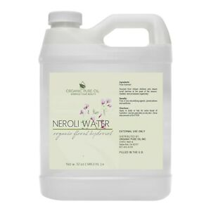 Neroli hydrosol floral toner facial spray skin hair cleanser dry oily skin 32 oz