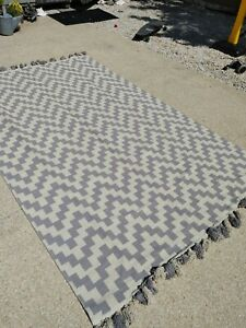 NEW 6 x 9 ft $219 Nuloom 100% Cotton cream white Rug Crate and Barrel cottage