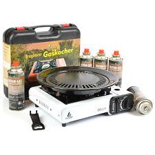 Camping Gaskocher Butan Gas Kocher Koffer Tischgrill Gaskartuschen Campingkocher