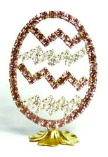 Easter EGG Luxury Vintage Czech Handmade Rhinestones Easter Decoration