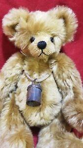 "Susan Arnot ""Pocket Pal"" artist teddy bear 8"" mohair Under the Apple Tree"