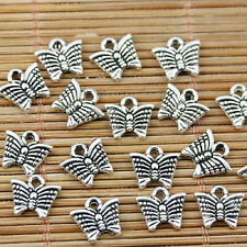 180pcs tibetan silver tone little butterfly design charms EF1540