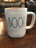 Rae Dunn BOO Halloween White Mug Cup with Orange Interior NEW 2019