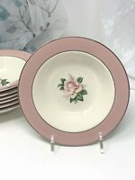 """Homer Laughlin Lifetime China Pink Rose Berry Bowl 6.5""""  ( 7 Available )"""